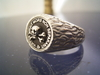 masonic skull nugget Ring