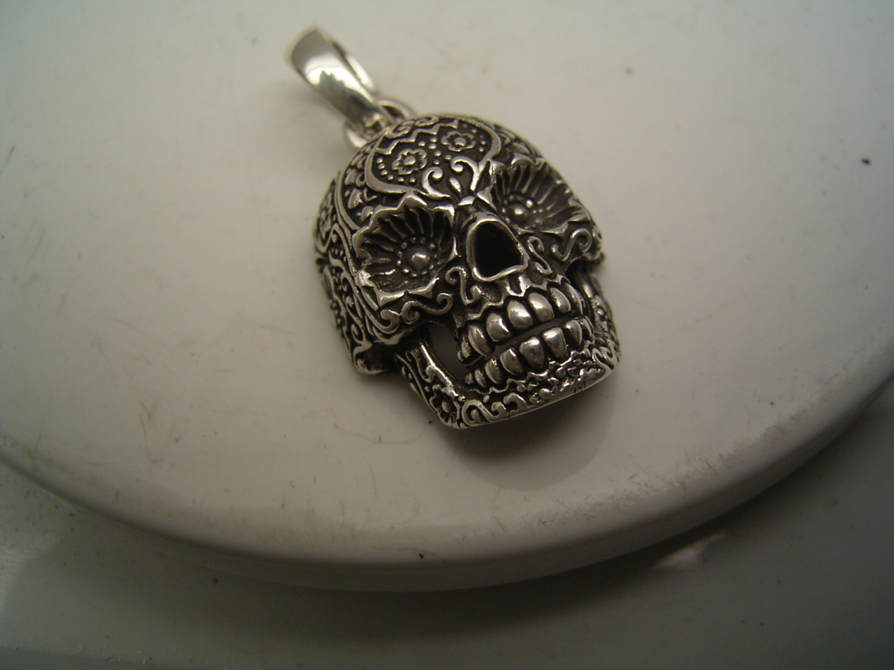 sterling pendant cristy product cali sugar large skull silver
